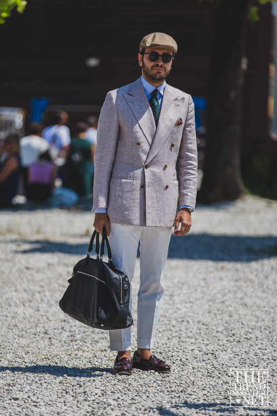 Fabio Attanasio at Pitti88 captured by The Trend Spotter